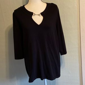 LANE BRYANT 3/4 Sleeve black Sweater size 18/20